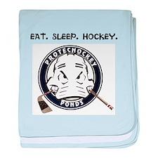 Cool Eat sleep hockey baby blanket