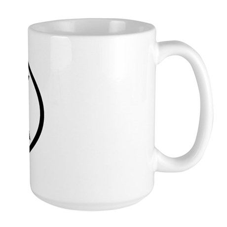 Alaska - AK - US Oval Large Mug