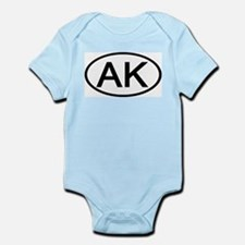 Alaska - AK - US Oval Infant Creeper