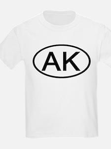 Alaska - AK - US Oval Kids T-Shirt