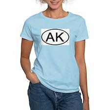 Alaska - AK - US Oval Women's Pink T-Shirt