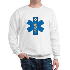 Masonic EMS Blue Star of Life Sweatshirt