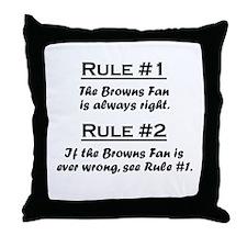 Browns Throw Pillow