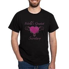 World's Greatest Secretary (Heart) T-Shirt