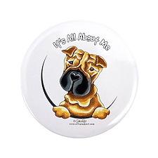 """Chinese Shar Pei IAAM 3.5"""" Button"""