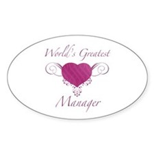 World's Greatest Manager (Heart) Decal
