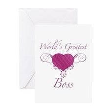 World's Greatest Boss (Heart) Greeting Card