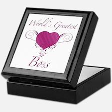 World's Greatest Boss (Heart) Keepsake Box