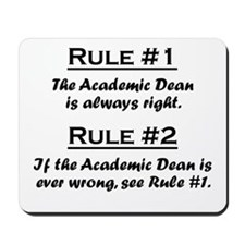 Academic Dean Mousepad
