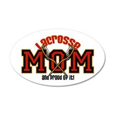 Lacrosse Mom 20x12 Oval Wall Peel