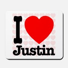 I Love Justin Mousepad