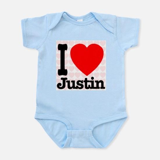 I Love Justin Infant Bodysuit