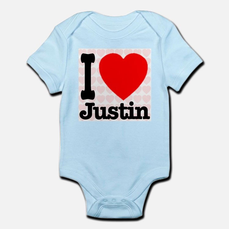 I Love Justin Infant Bodysuit