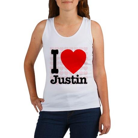 I Love Justin Women's Tank Top