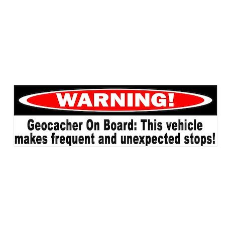 Warning! Geocacher On Board 20x6 Wall Peel