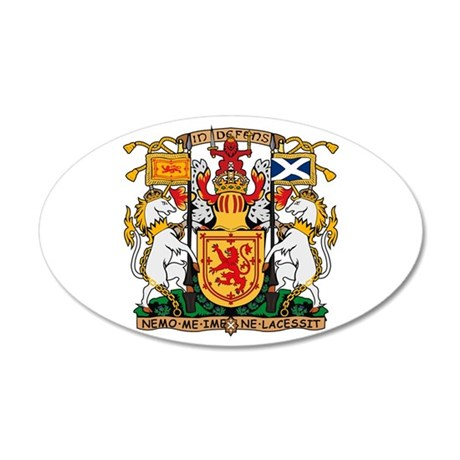 Scotland Coat of Arms 20x12 Oval Wall Peel