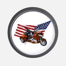 Old Glory Trike Wall Clock