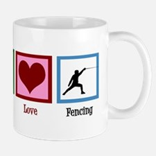 Peace Love Fencing Mug