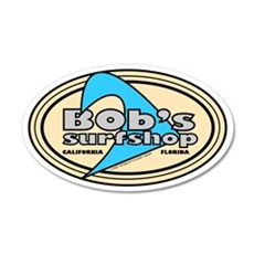 Bob's Surfshop 20x12 Oval Wall Peel