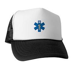 Masonic EMS Blue Star of Life Trucker Hat