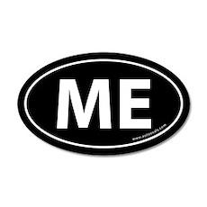 Maine ME Auto Sticker -Black (Oval)