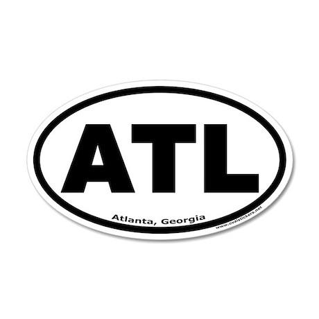 "Atlanta, Georgia ""ATL"" 35x21 Oval Wall Peel"