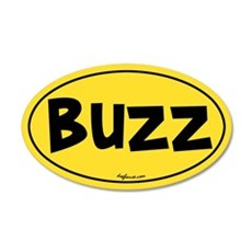 Buzz 20x12 Oval Wall Peel