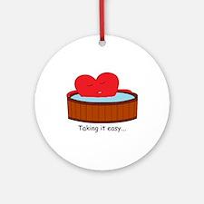 Take it easy Ornament (Round)