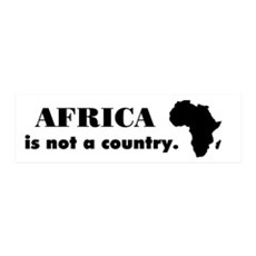 Africa is not a country 36x11 Wall Peel