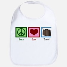 Peace Love Travel Bib