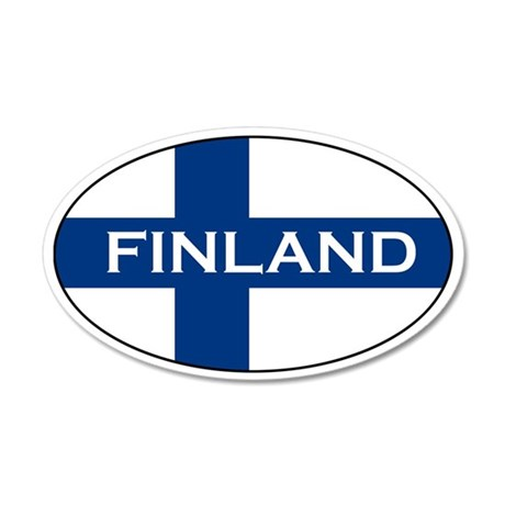 Finnish Stickers 35x21 Oval Wall Peel