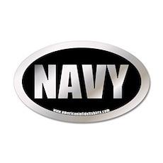U.S. Navy Metalic 20x12 Oval Wall Peel