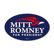 Mitt Romney Campaign Logo 20x12 Oval Wall Peel
