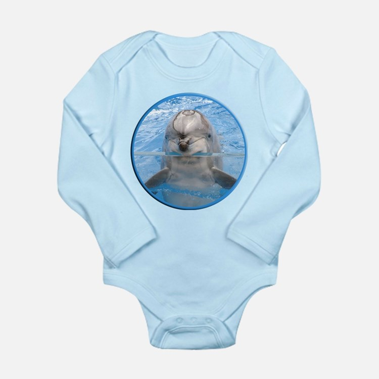 Helaine's Dolphin Long Sleeve Infant Bodysuit