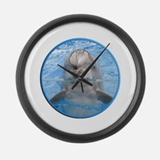 Helaine's Dolphin Large Wall Clock