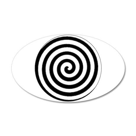 Hypnotic Spiral 20x12 Oval Wall Peel