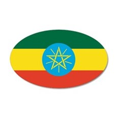 Ethiopian Flag 20x12 Oval Wall Peel