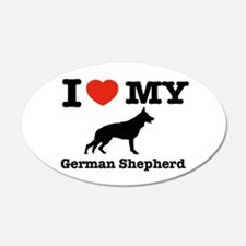 I love my German Shepherd 20x12 Oval Wall Peel