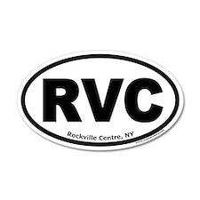 """Rockville Centre, NY """"RVC"""" 20x12 Oval Wall Peel"""