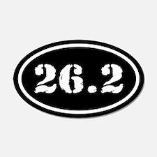26.2 Marathon Oval 20x12 Oval Wall Peel