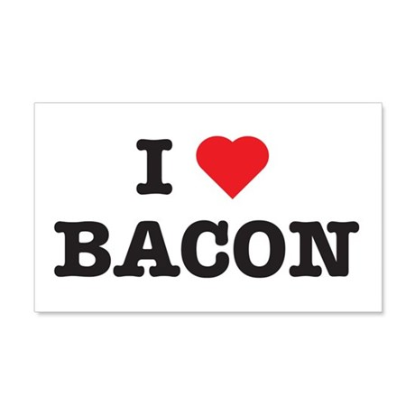 I Love Bacon 20x12 Wall Peel
