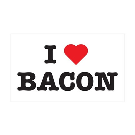 I Love Bacon 35x21 Wall Peel