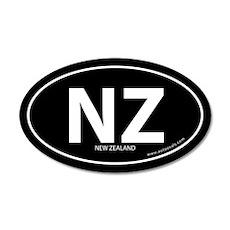 New Zealand country bumper sticker -Black (Oval)