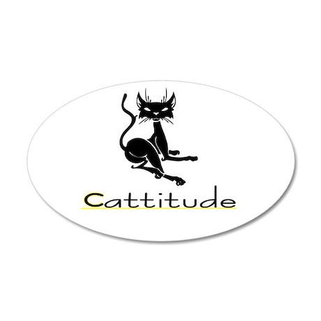 Cattitude 35x21 Oval Wall Peel