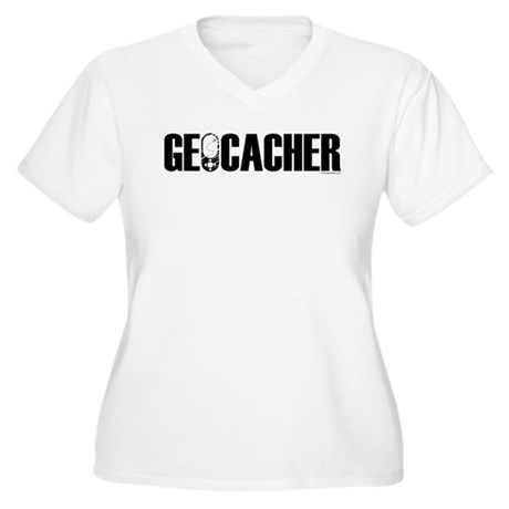 Geocacher Women's Plus Size V-Neck T-Shirt