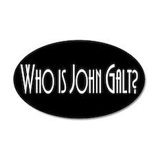 Who is John Galt? Atlas Shrug 20x12 Oval Wall Peel