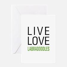 Live Love Labradoodles Greeting Card