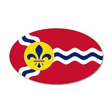 St. Louis Flag 20x12 Oval Wall Peel