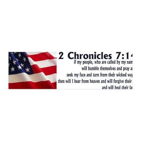 2 Chronicles 7:14 36x11 Wall Peel