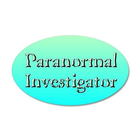 """Paranormal Investigator"" 35x21 Oval Wall Peel"